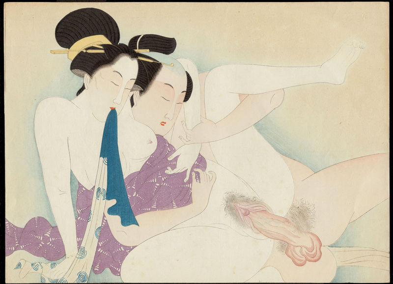 Shunga by an artist of the Seitei School