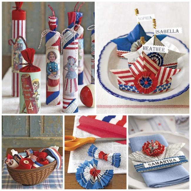 How to create vintage or handmade Fourth of July decorations  |  OHMY-CREATIVE.COM