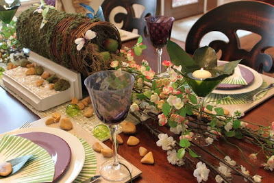 Nature Spring Tablescape And Centerpiece