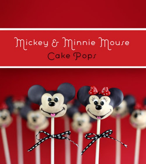 Micky and Minnie Mouse Cake Pops