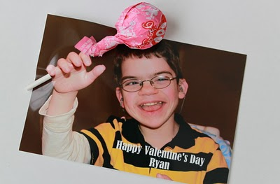 DIY Kids Valentines Photo Cards