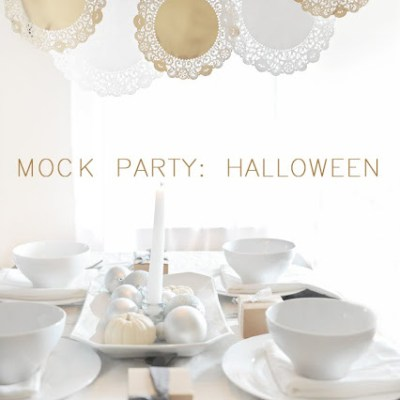 A Modern Neutral Halloween Party