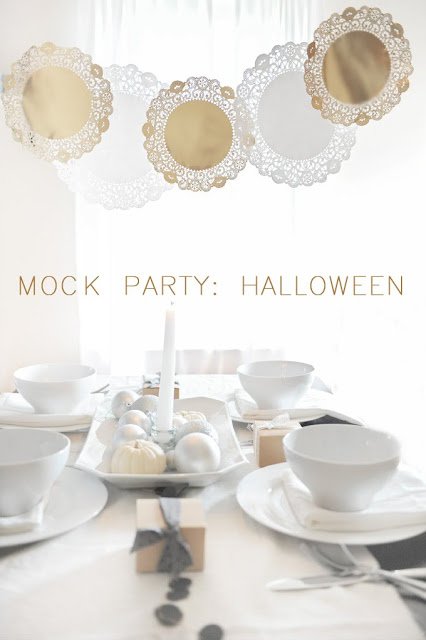 Modern Neutral Halloween Party and Tablescape