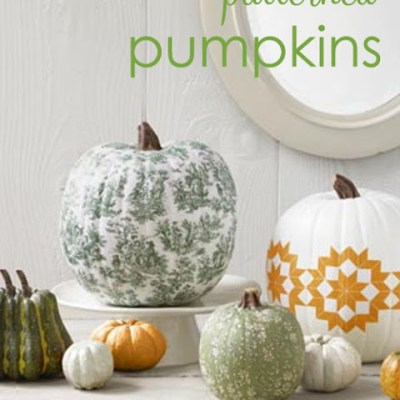 Fabric Patterned Pumpkins