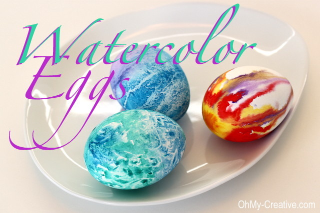 Watercolor Easter Egg Designs Oh My Creative
