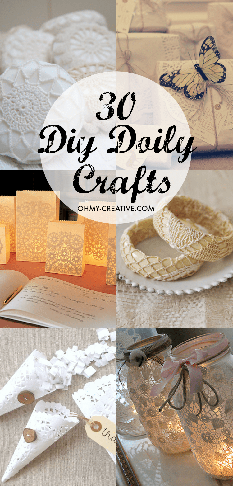 diy crafts doily craft creative projects patterns ohmy doilies uses shapes