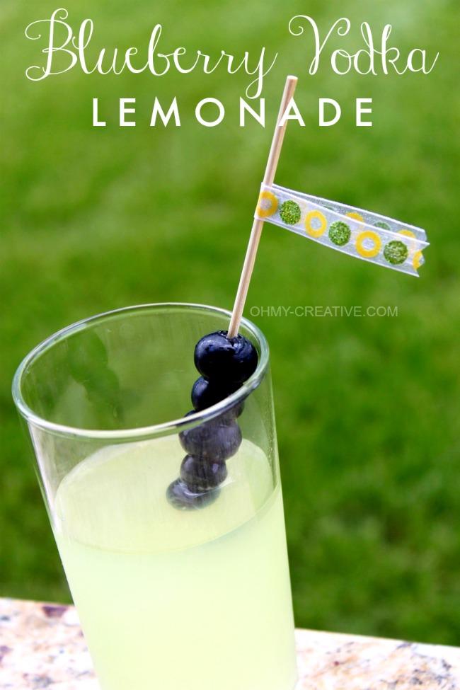 Summers best cocktail - Blueberry Vodka Lemonade | 30 Graduation Party Food Ideas | OHMY-CREATIVE.COM