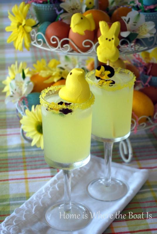 Easter Peeps Drink Garnish
