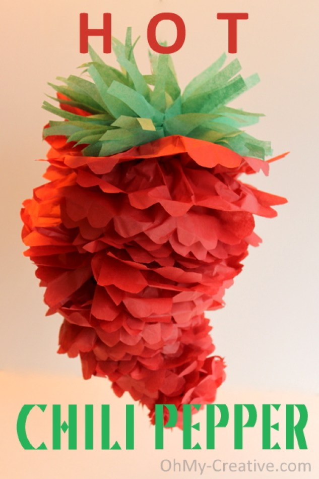 Chili Pepper Party Pom - Cinco de May - Mexican Fiesta - Oh My! Creative