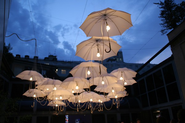 Outdoor umbrella lighting
