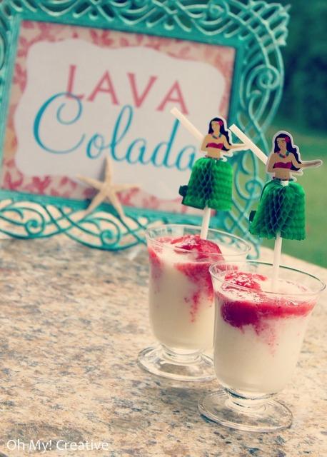 luau drink - lava colada