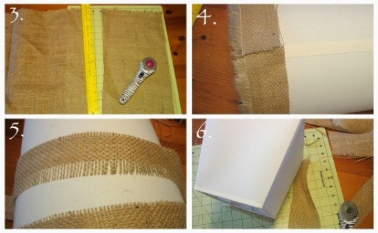 DIY Burlap Lamp Shades - Oh My Creative