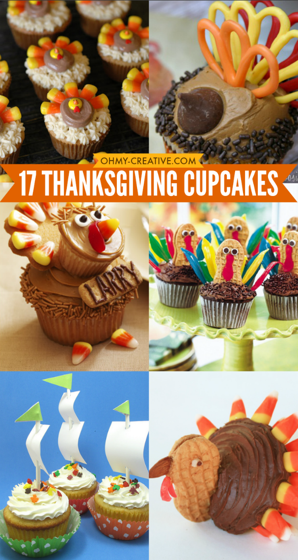 17 Thanksgiving Cupcakes Oh My Creative