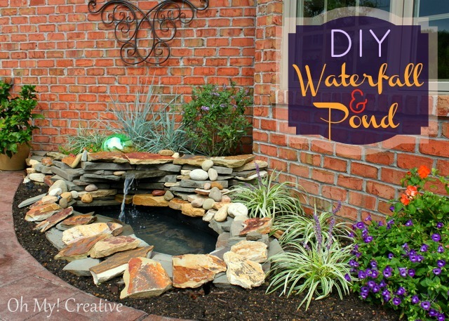 How to build a pond waterfall step by step oh my creative - How to build a swimming pool waterfall ...
