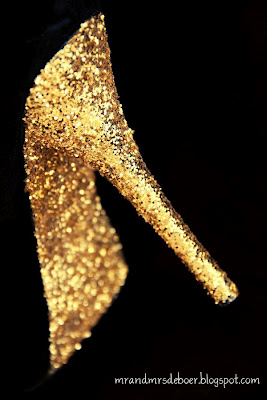 DIY Glitter bottom shoes