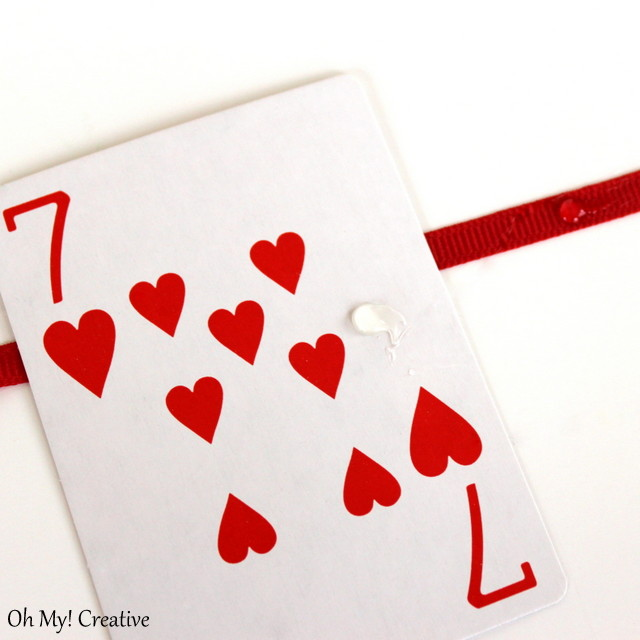 poker card game cake plate