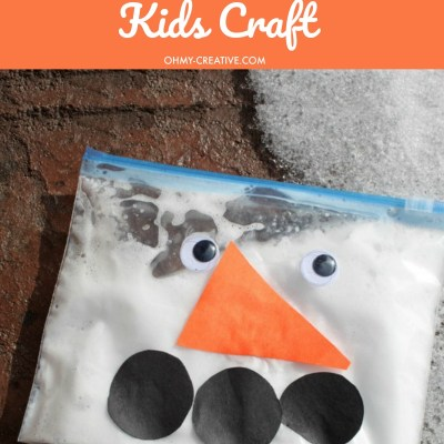 Snowman In A Bag Kids Craft