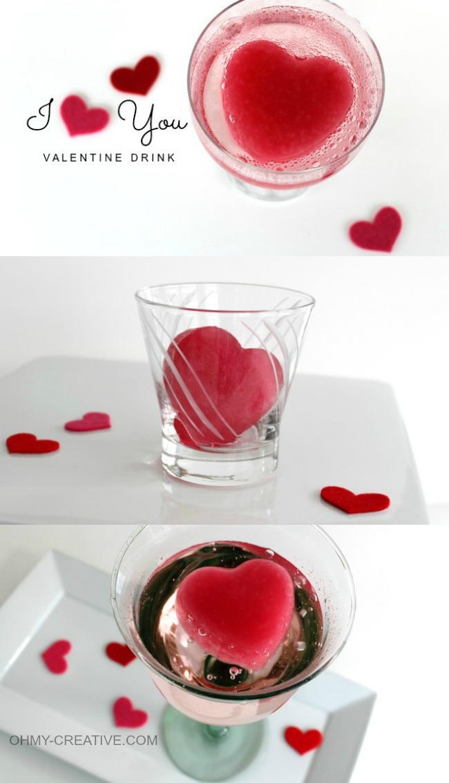 I Heart You Valentine Drink | OHMY-CREATIVE.COM