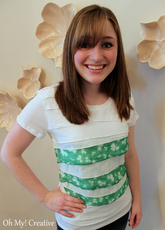 Diy St. Patrick's Day Shamrock T-shirt