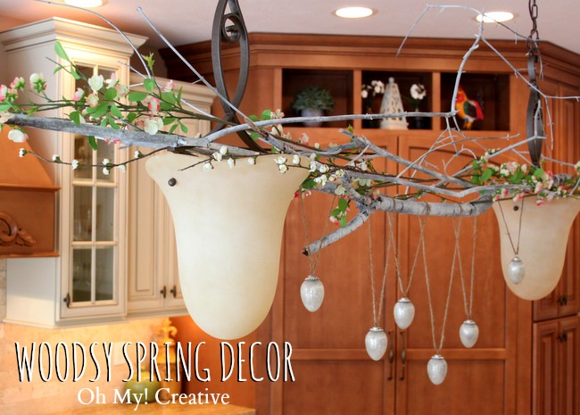 Woodsy Branch Spring Kitchen Decorating, Easter Decorating, Eggs,