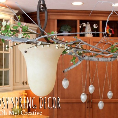 Woodsy Spring Decor Idea