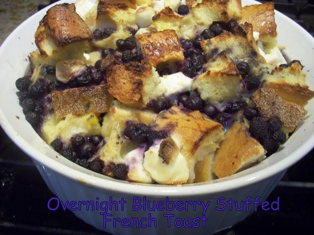 Overnight Blueberry Stuffed French Toast