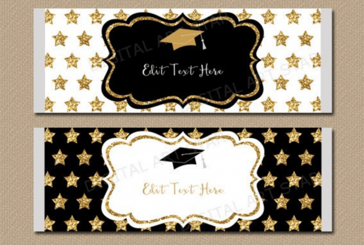 Graduation Party Candy Bar Wrappers. Edit Text Digital download for graduation party. #graduationpartyideas #graduationparty #gradparty