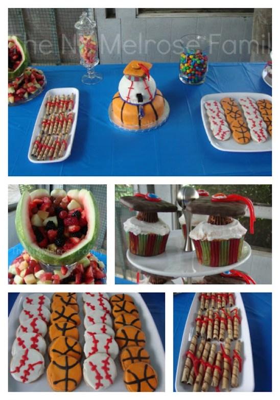 Sports Theme graduation dessert table