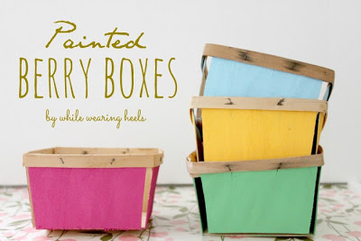 Painted berry boxes