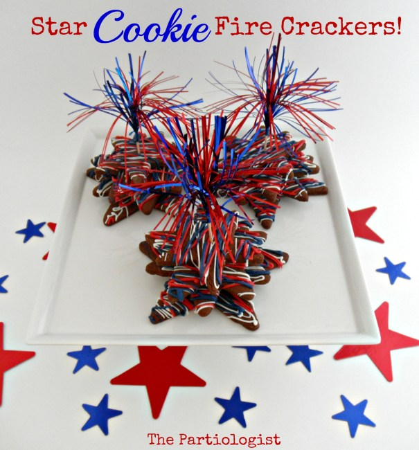 Patriotic Star Cookie Firecracker