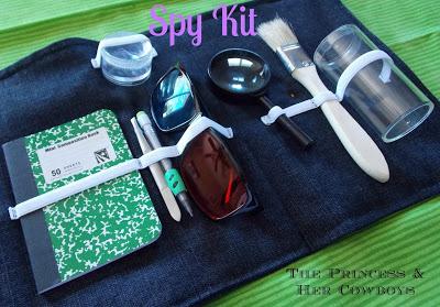 DIY Kids Party Spy Kit