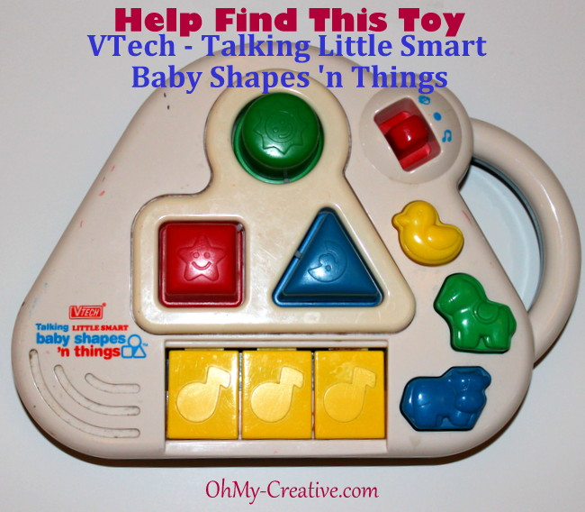 vtech talking smart baby shapes 'n things toy