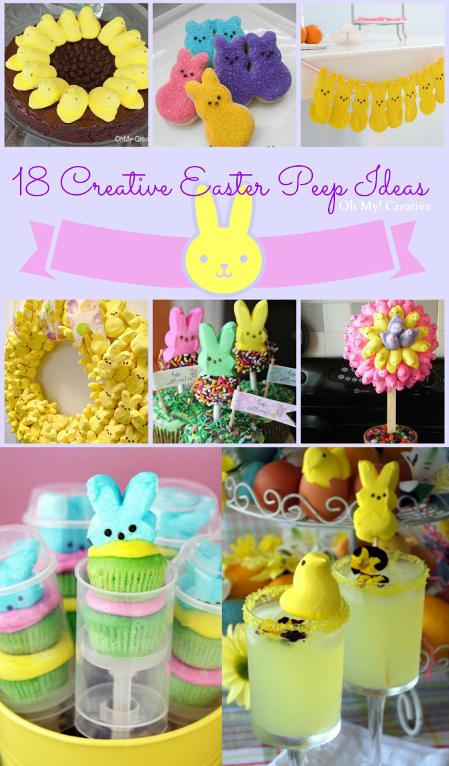 18 Creative Easter Peeps Ideas including Peeps Recipes and Easter Peeps Decor! | OHMY-CREATIVE.COM