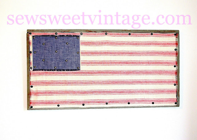 Folk Art Fabric Flag
