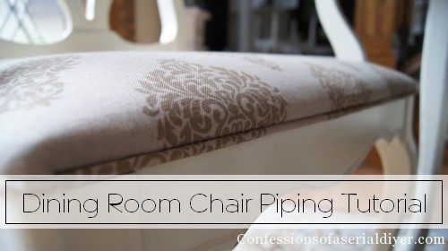 How to add piping to chair cushion
