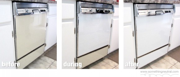 Dishwasher color change
