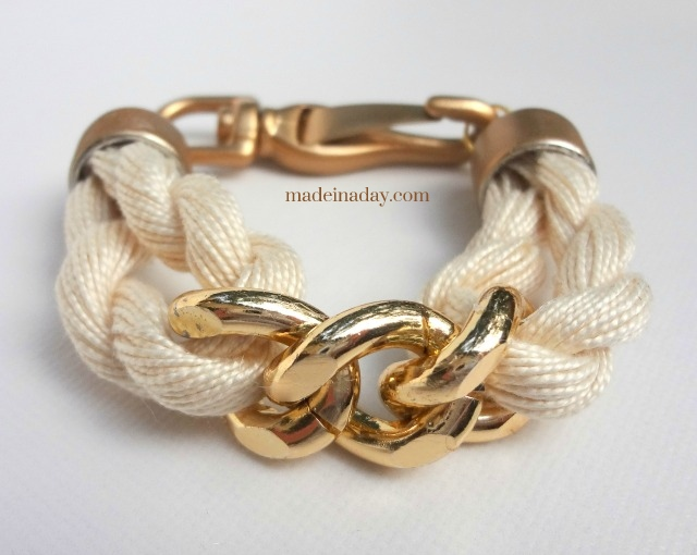 DIY Rope-Chain-Bracelet