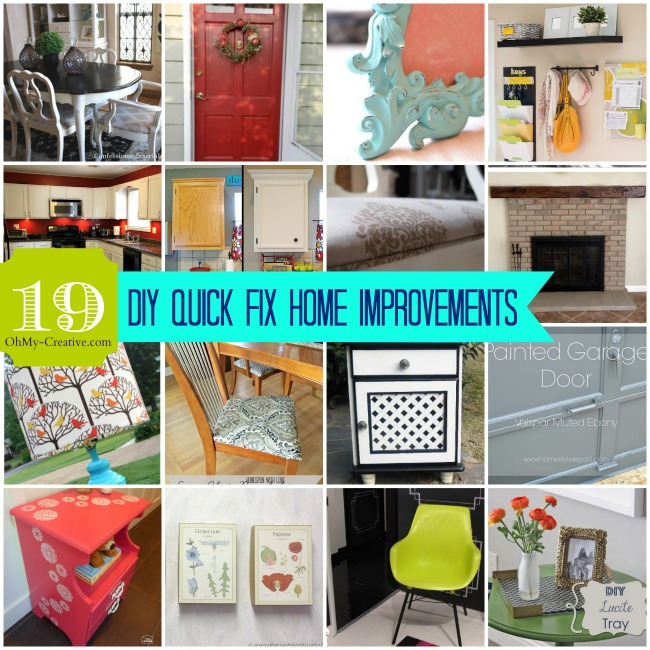 19 How To Do It Yourself Home Improvements - OhMy-Creative.com