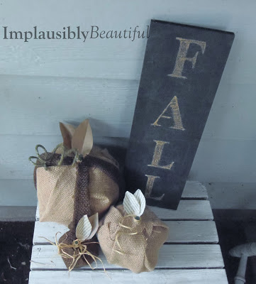 Burlap Pumpkin fall decor