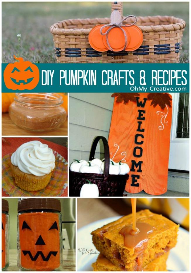 DIY Pumpkin Crafts & Recipes - OhMy-Creative.com