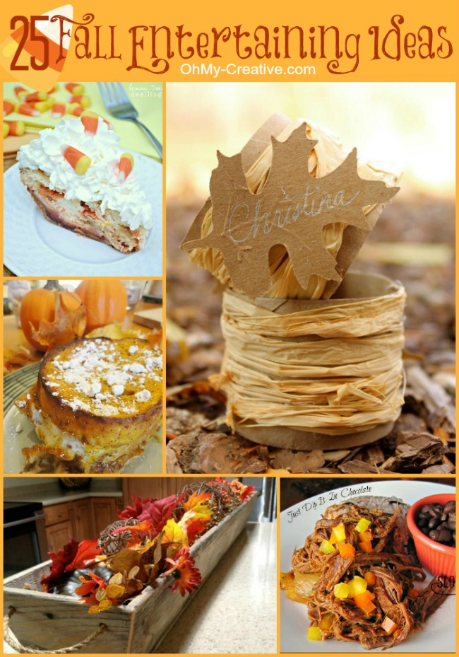 25 Fall Entertaining Ideas - OhMy-Creative.com