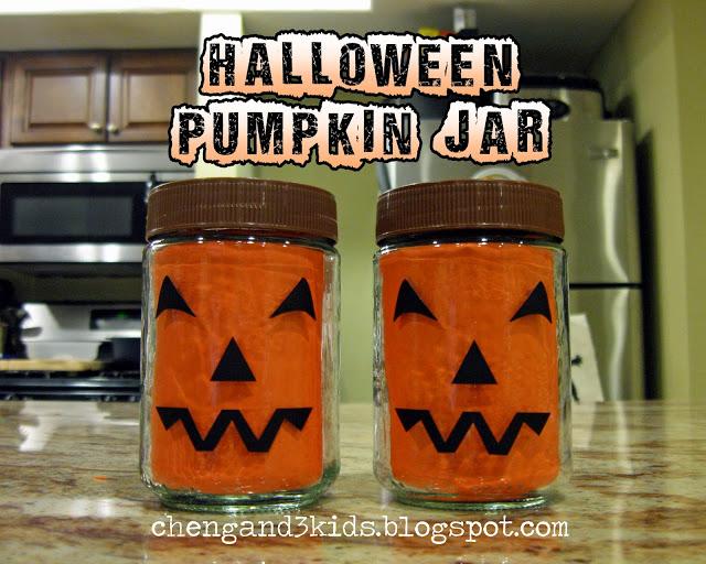 Halloween Pumpkin Jar craft