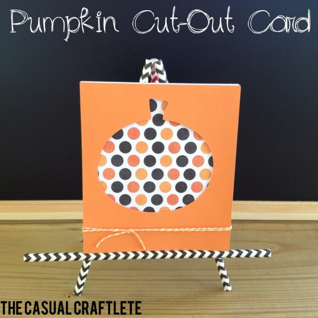 Pumpkin cutout card