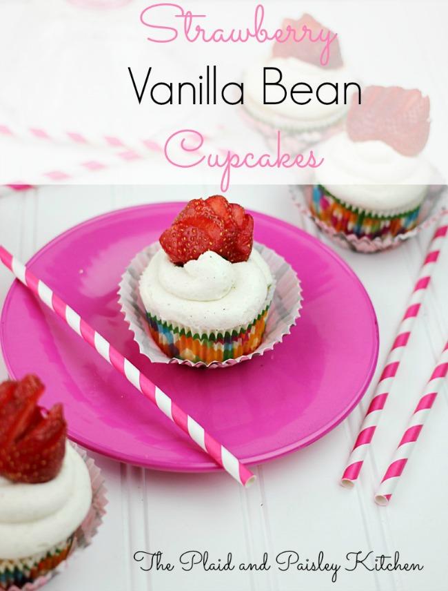 Strawberry Vanilla Bean Cupcakes - Oh My! Creative.com