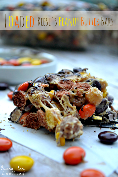 Loaded Reese's Peanut Butter Bars