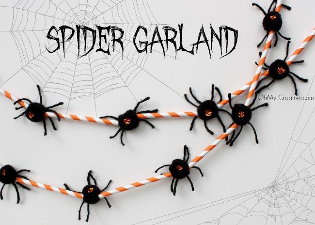 Halloween Spider Garland - OhMy-Creative.com