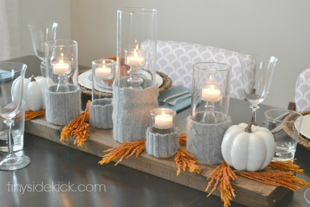 fall table decoration - fall tablescape