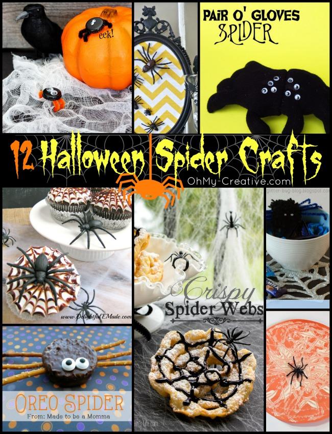 12 Halloween Spider Crafts - OhMy-Creative.com