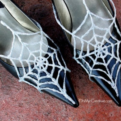 Glitter Spider Web Shoes