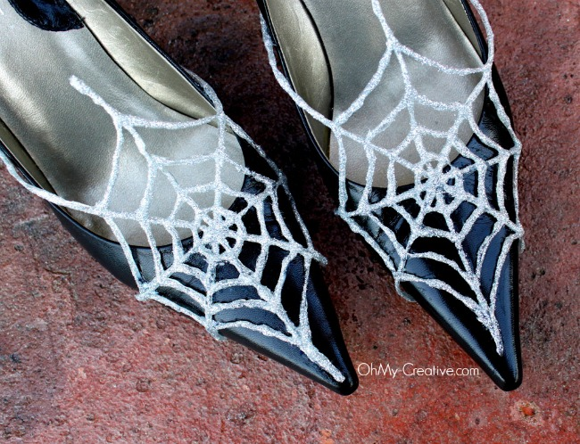 Glitter Spider Web Halloween Shoes 3 - OhMy-Creative.com